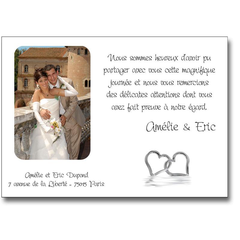 exemple de mot de remerciement mariage