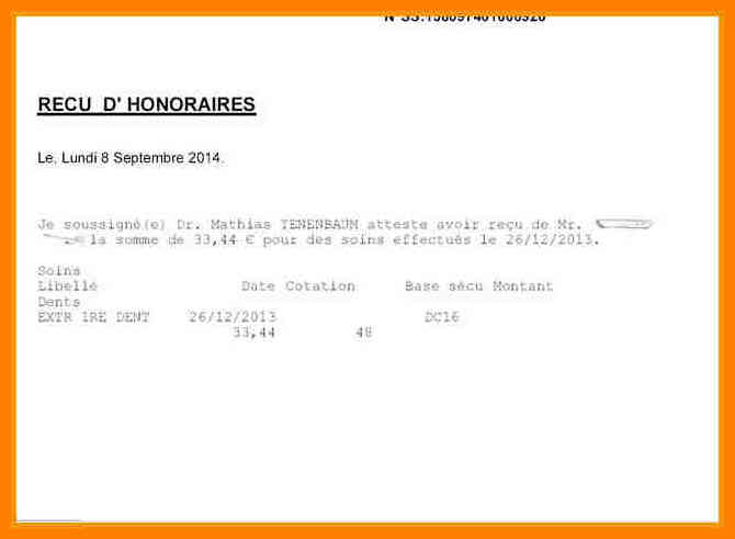 exemple de note d u0026 39 honoraires