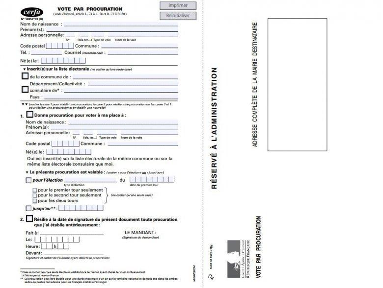 exemple de procuration pour voter - Modele de lettre type
