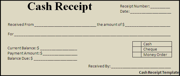 exemple de recu d'argent