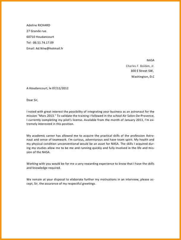 exemple lettre administrative gratuite