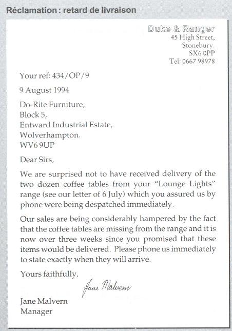 exemple lettre commerciale suisse