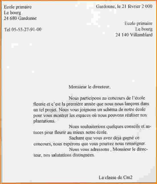 exemple lettre d'absence ecole