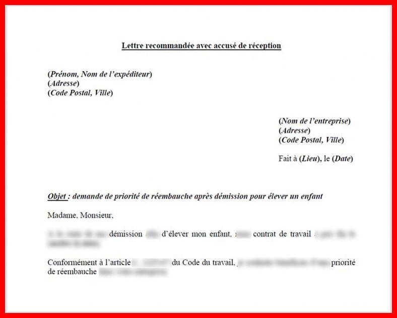 exemple lettre de demission