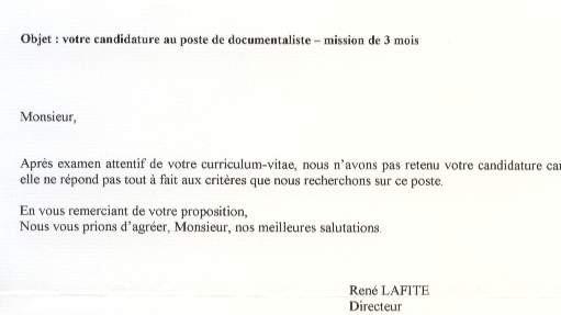 exemple lettre de relance candidature