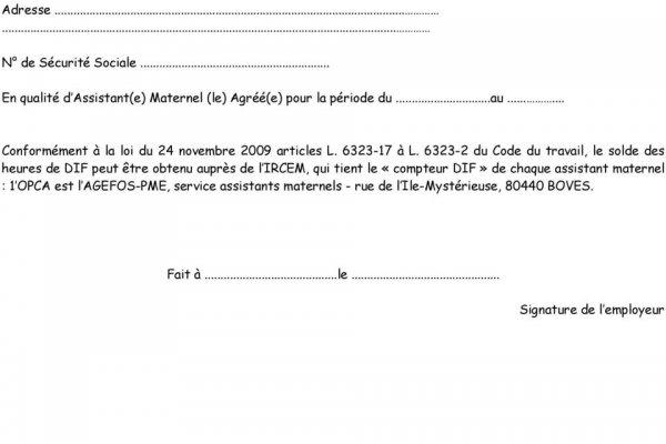 exemple lettre de rupture de contrat assistant maternelle - Modele de lettre type