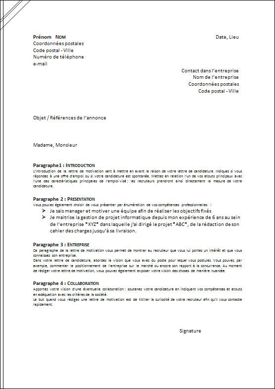 exemple lettre mandat huissier