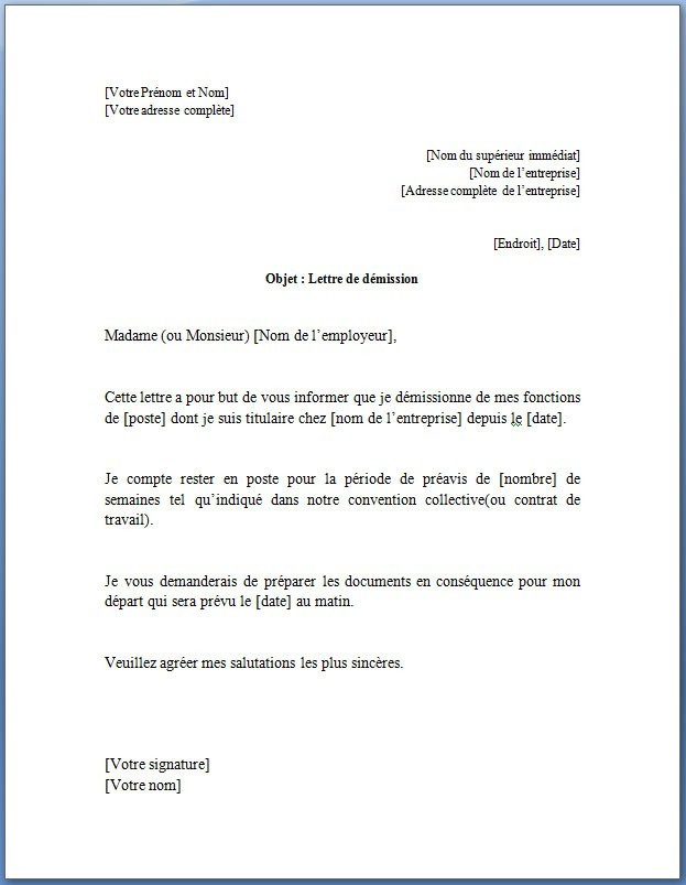 exemple lettre officiel