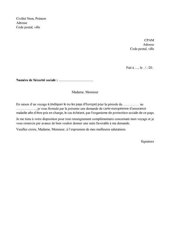 Exemple Lettre Resiliation Assurance Maladie Modele De Lettre Type