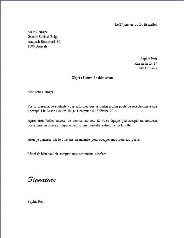 exemples de courrier