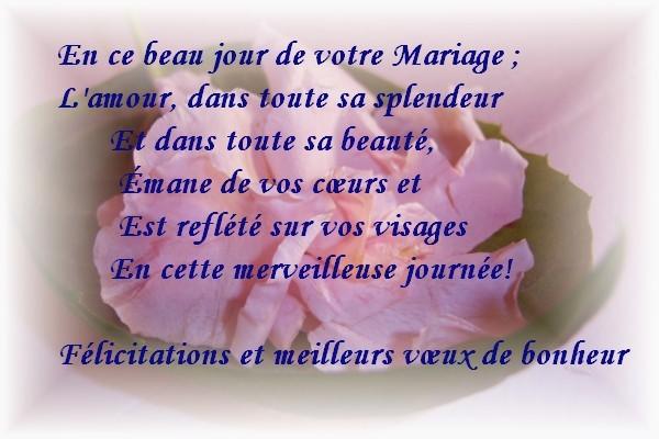 felicitation mariage texte gratuit