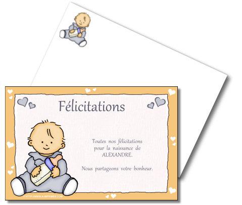 felicitations faire part naissance