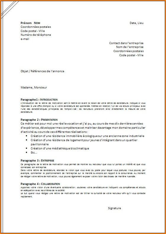 format lettre
