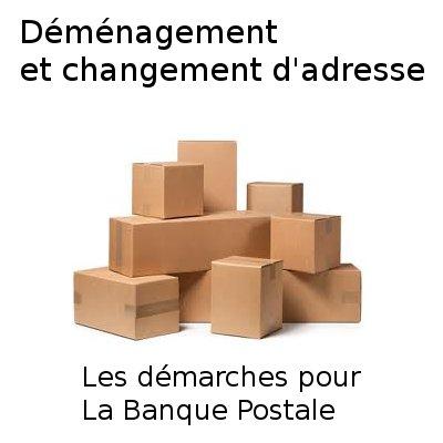 formulaire changement d'adresse la banque postale