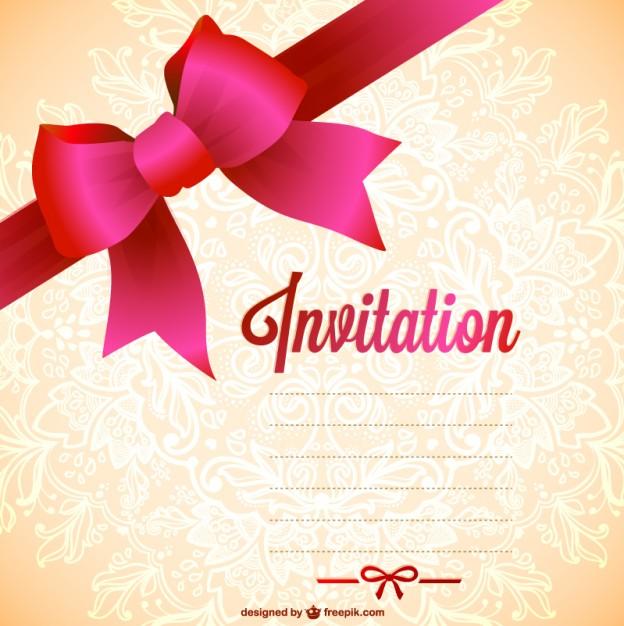 invitation modele gratuit