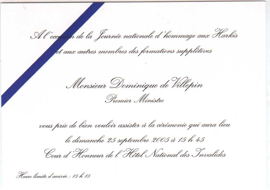 invitation soutien