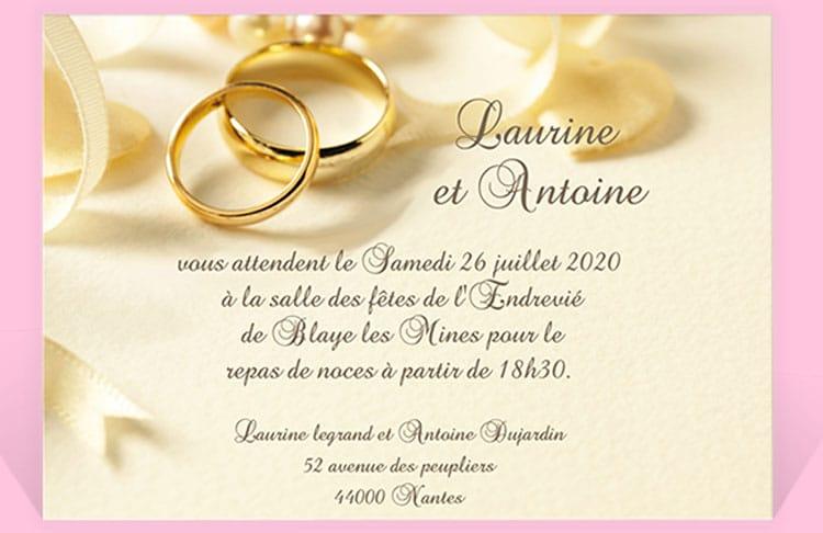 Invitation Anniversaire De Mariage