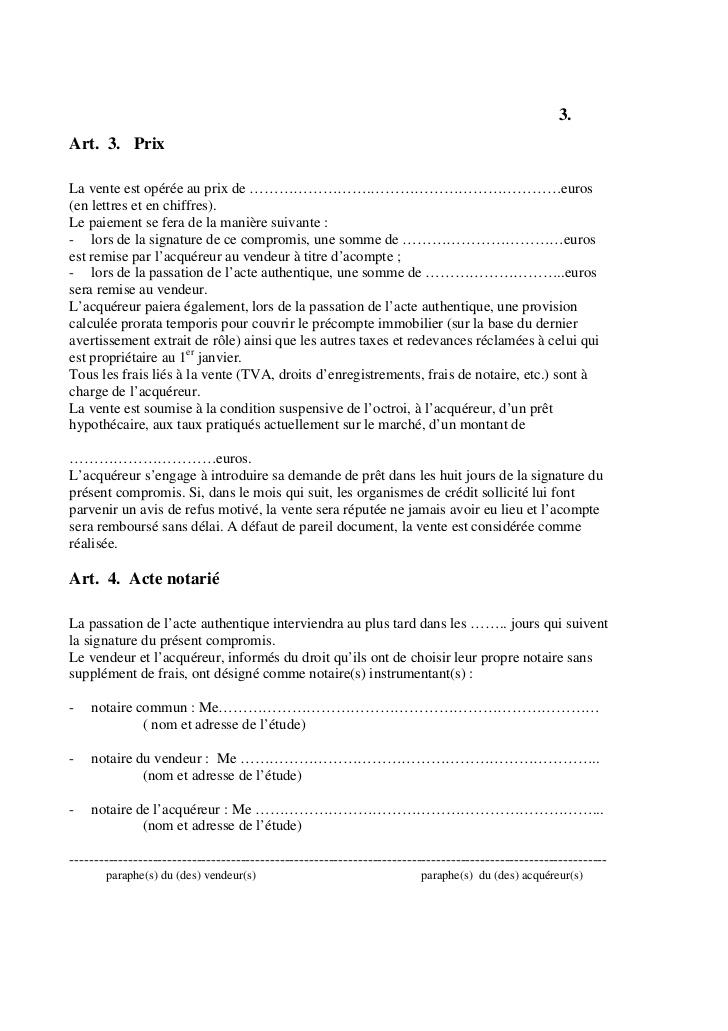 lettre accord de vente