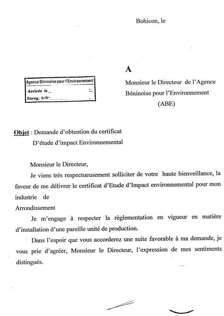 lettre administrative demande de conge