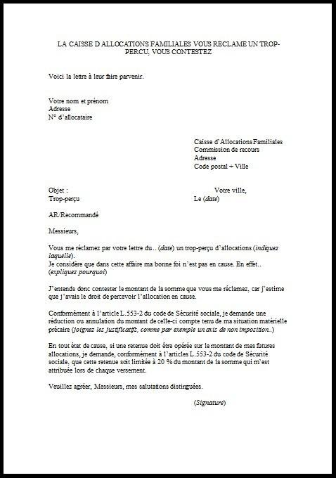 lettre annulation dette