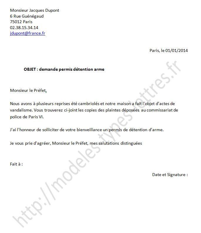 lettre autorisation