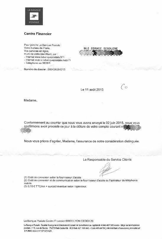 lettre banque