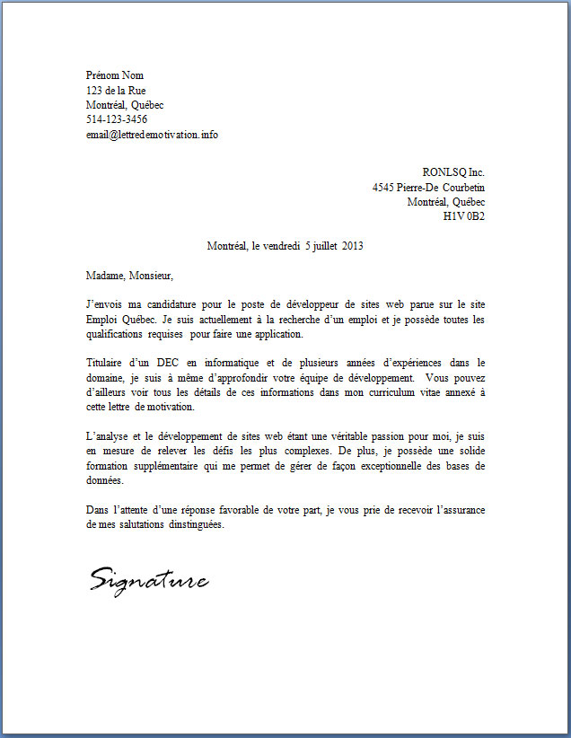 lettre candidature spontanee secretaire medicale