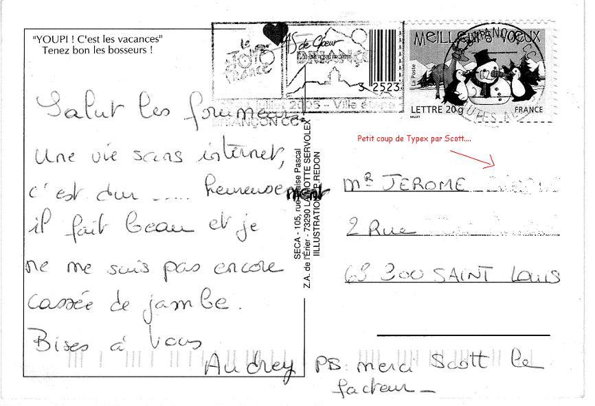 lettre carte postale modele - Modele de lettre type