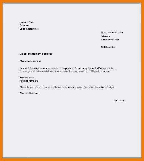 lettre changement nom mariage