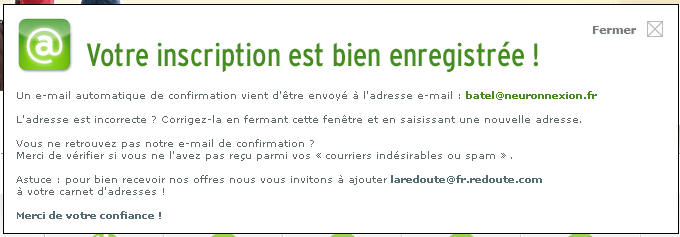 lettre confirmation inscription
