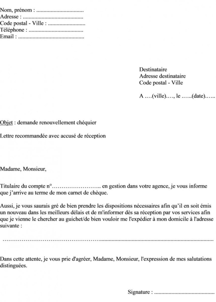 lettre confirmation opposition