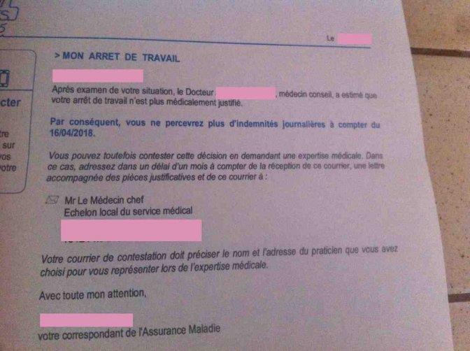 lettre contestation securite sociale
