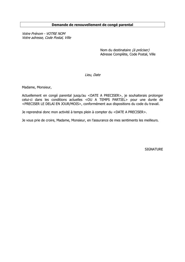 lettre d'acceptation de conge paye