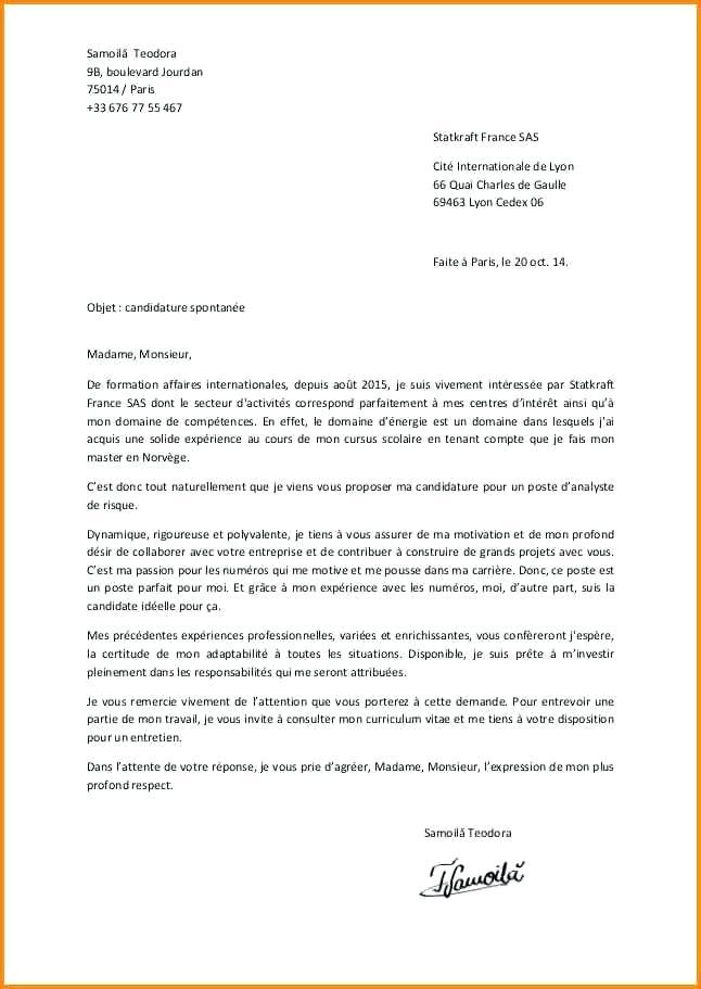 lettre d emploi gratuite