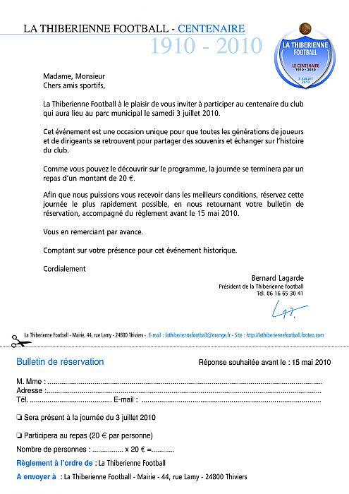 lettre d u0026 39 invitation
