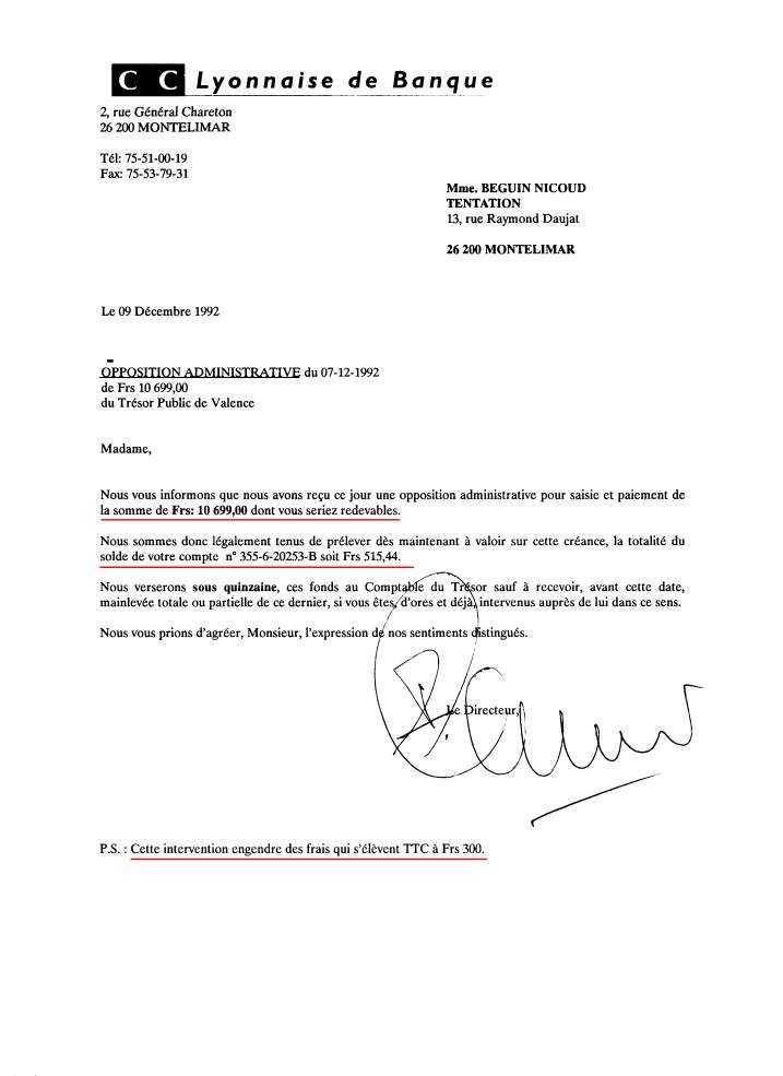 lettre d u0026 39 opposition de carte bancaire