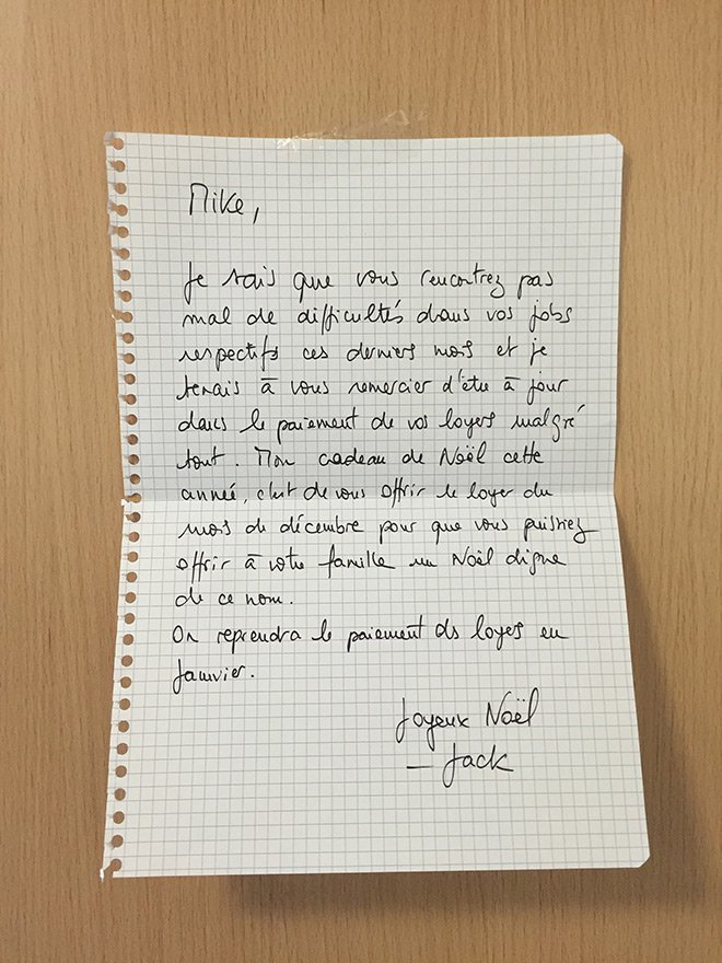 lettre d'un proprietaire a son locataire