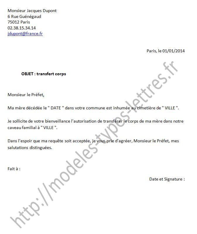lettre de autorisation
