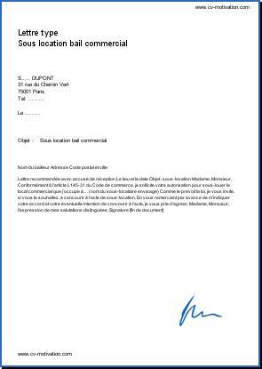 lettre de bail