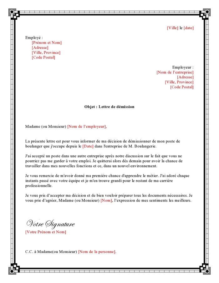 lettre de changement de poste pour raison familiale
