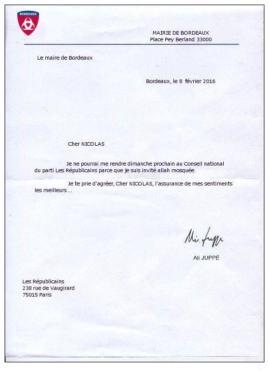 lettre de circonstance