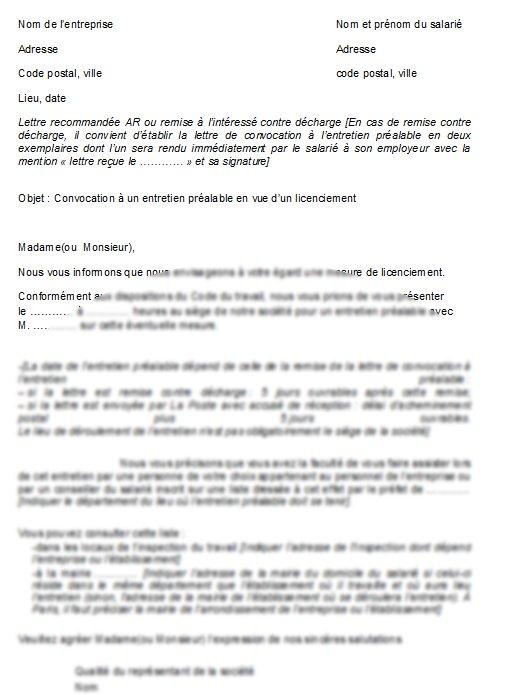 48a5ef67887 lettre de convocation a un entretien - Modele de lettre type