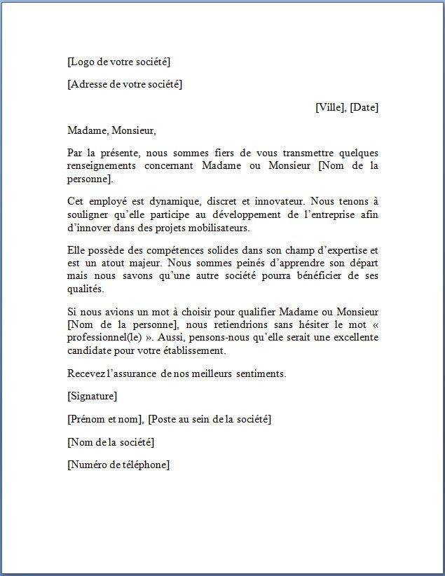 lettre de de