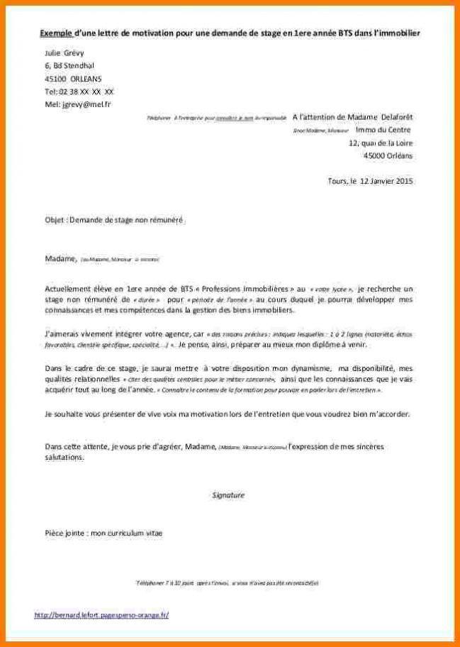 lettre de demande attestation