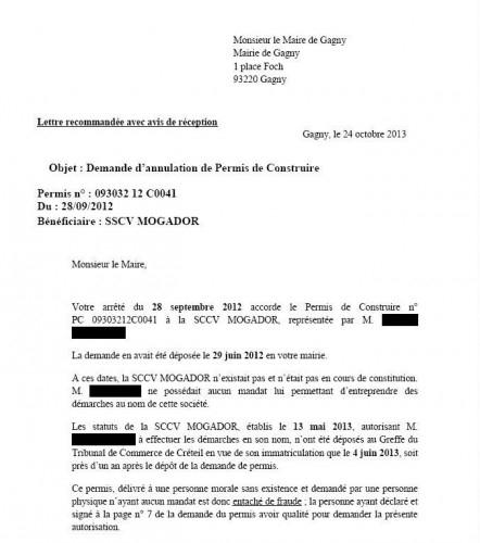 lettre de demande d annulation d inscription