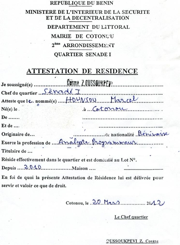 lettre de demande d u0026 39 attestation de travail gratuit