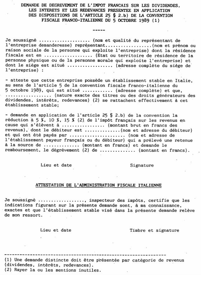 lettre de demande de degrevement d'impots