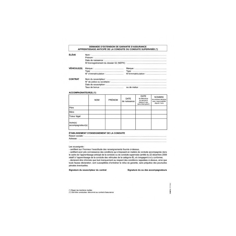 lettre de demande de garantie