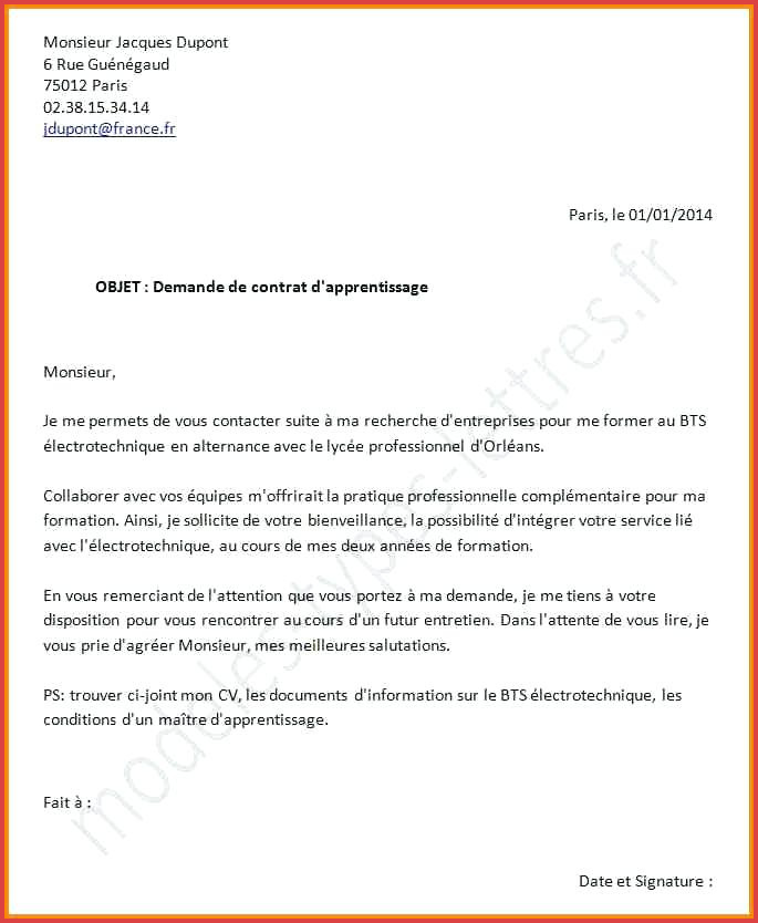 lettre de demande des documents