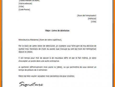 lettre de demission association